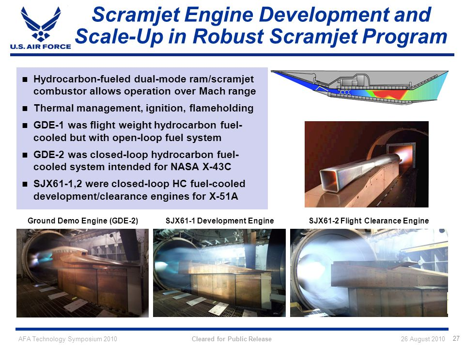 Scramjet Engine Development and Scale-Up in Robust Scramjet Program