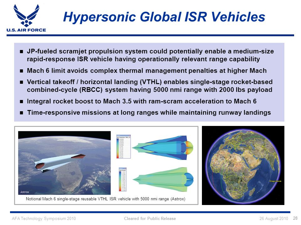 Hypersonic Global ISR Vehicles