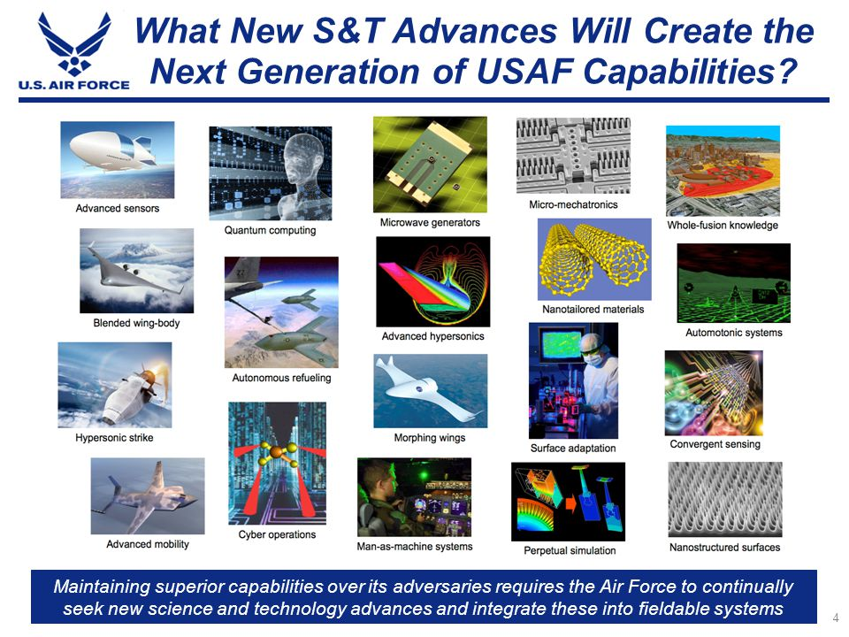 What New S&T Advances Will Create the Next Generation of USAF Capabilities