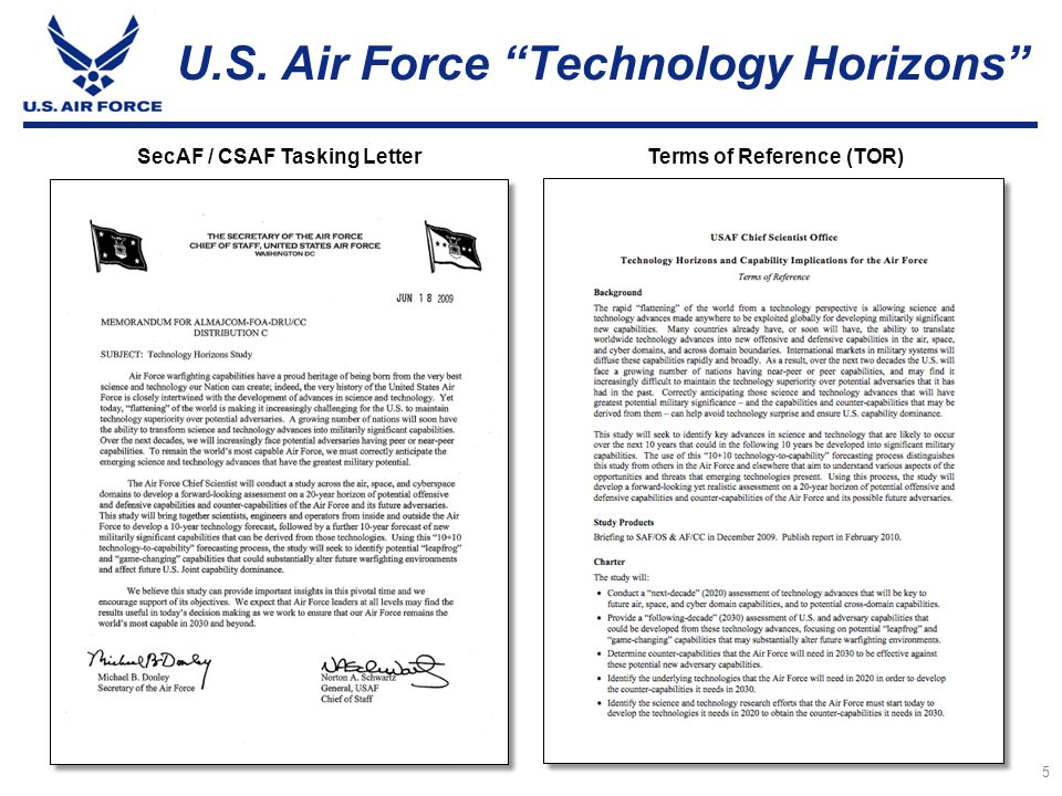 U.S. Air Force Technology Horizons