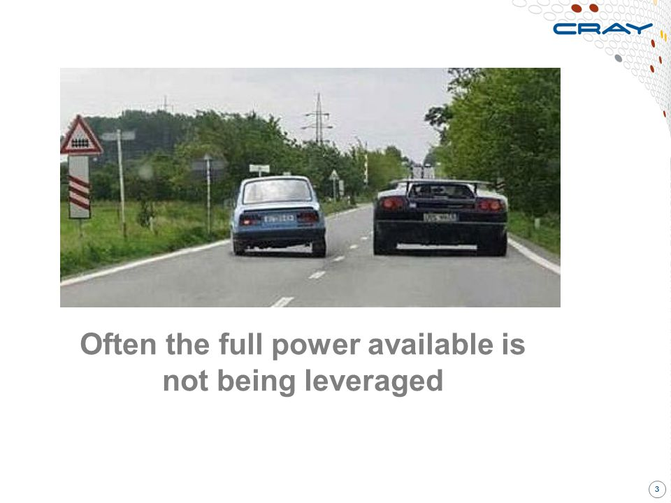 Often the full power available is not being leveraged