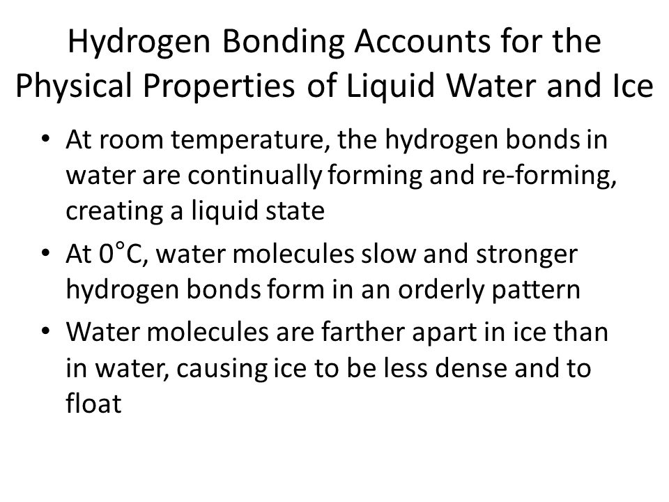 Hydrogen Bonding Accounts for the Physical Properties of Liquid Water and Ice