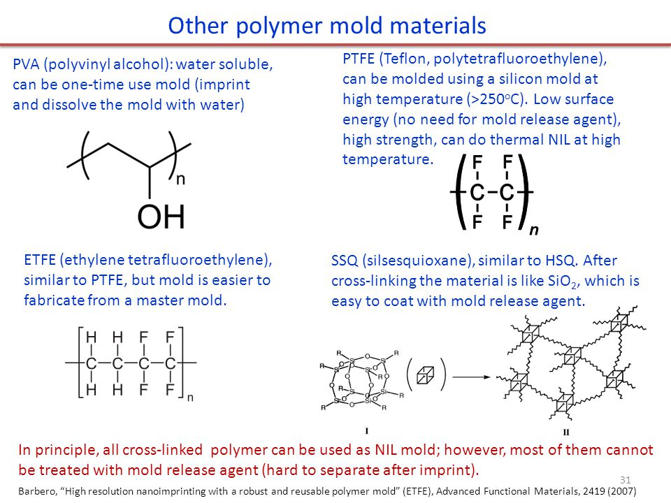 Other polymer mold materials
