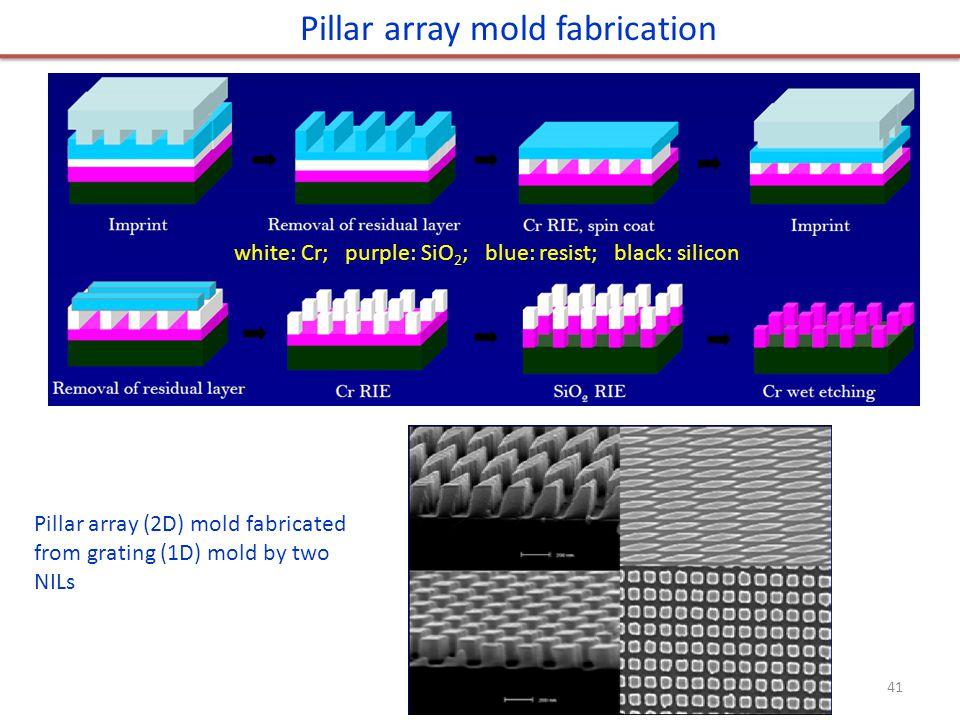 Pillar array mold fabrication