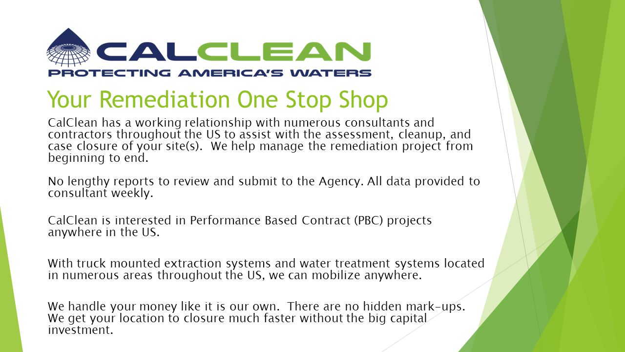 Your Remediation One Stop Shop