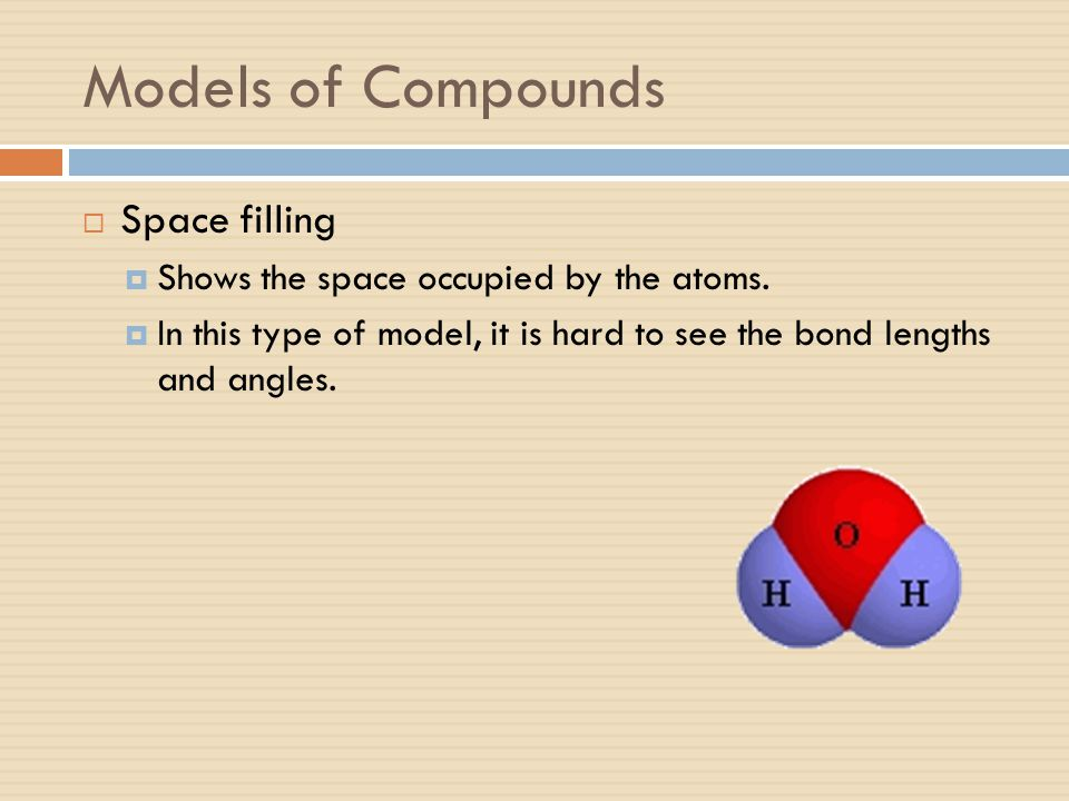 Models of Compounds Space filling