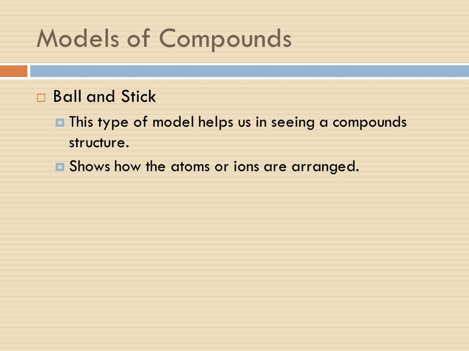 Models of Compounds Ball and Stick