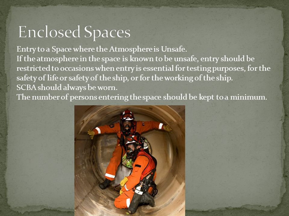 Enclosed Spaces Entry to a Space where the Atmosphere is Unsafe.