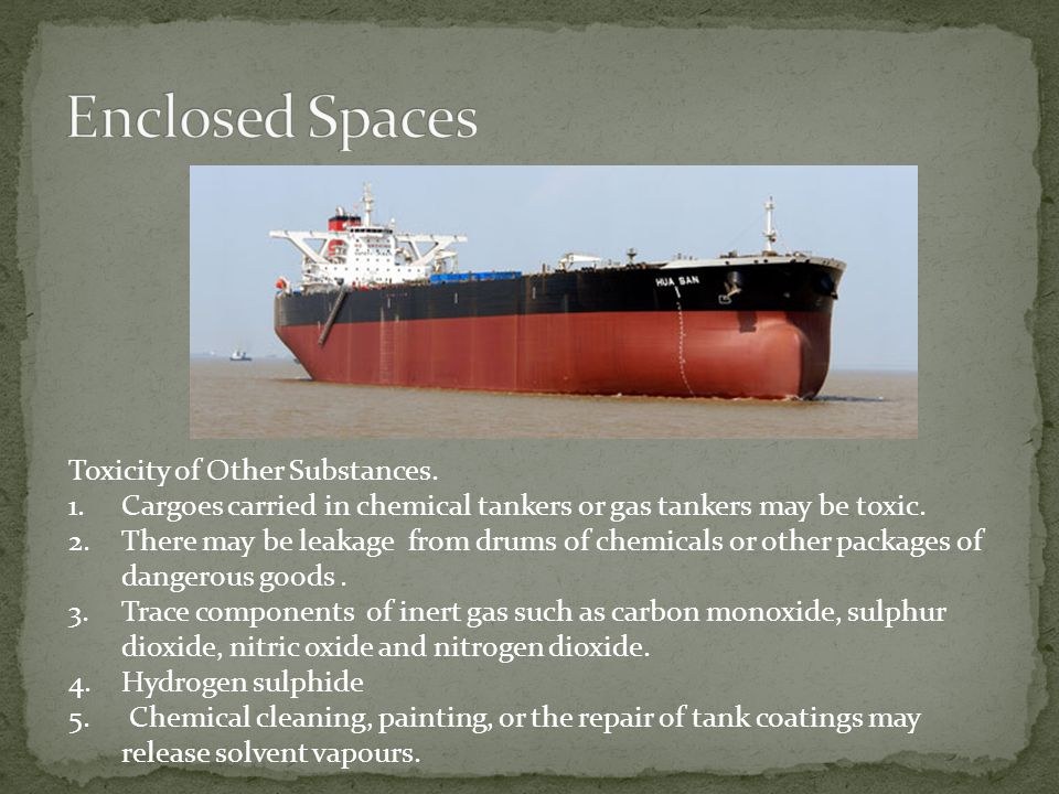 Enclosed Spaces Toxicity of Other Substances.