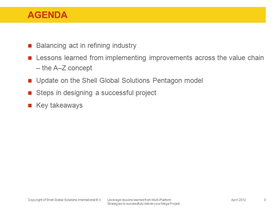 Agenda Balancing act in refining industry