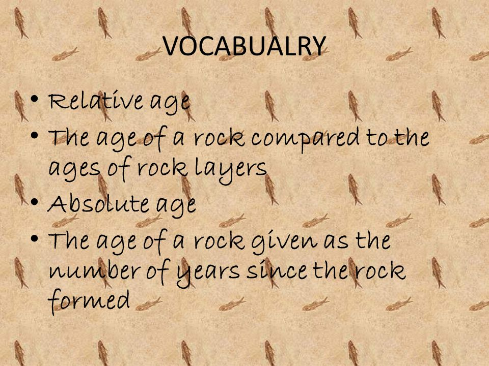 VOCABUALRY Relative age