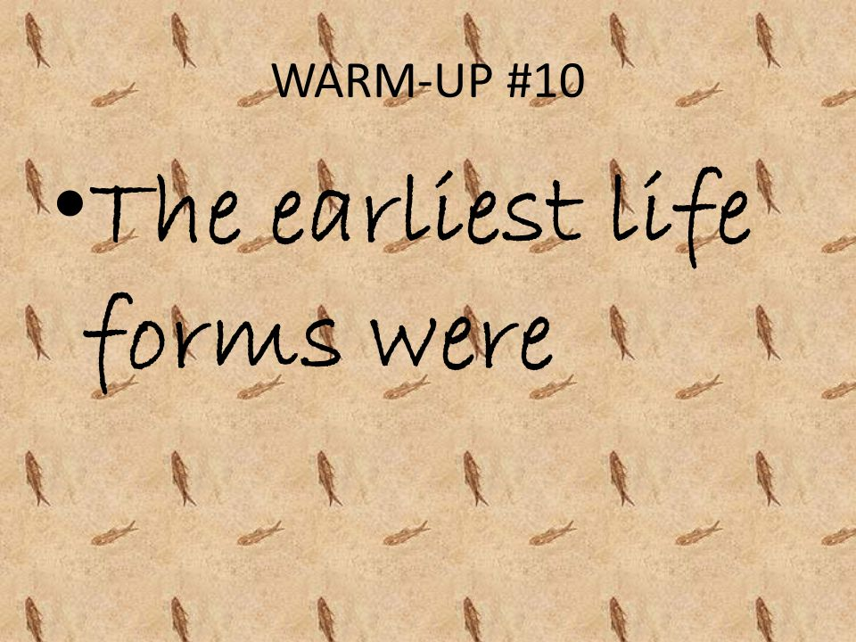 The earliest life forms were