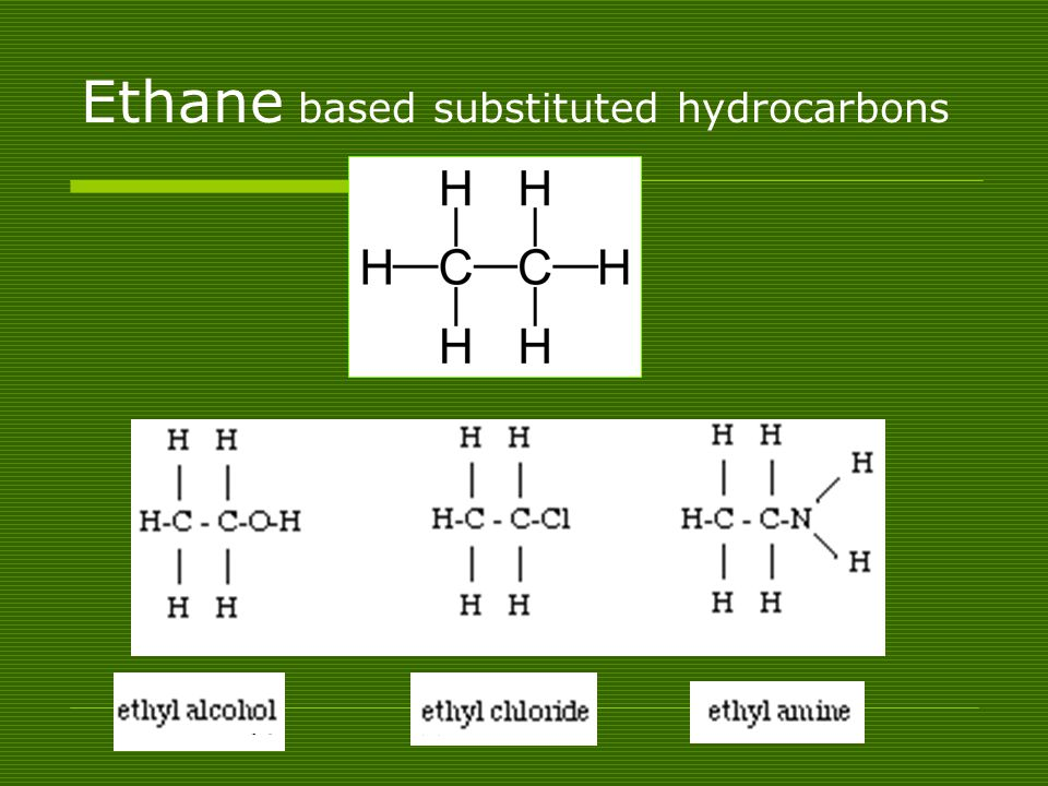 Ethane based substituted hydrocarbons