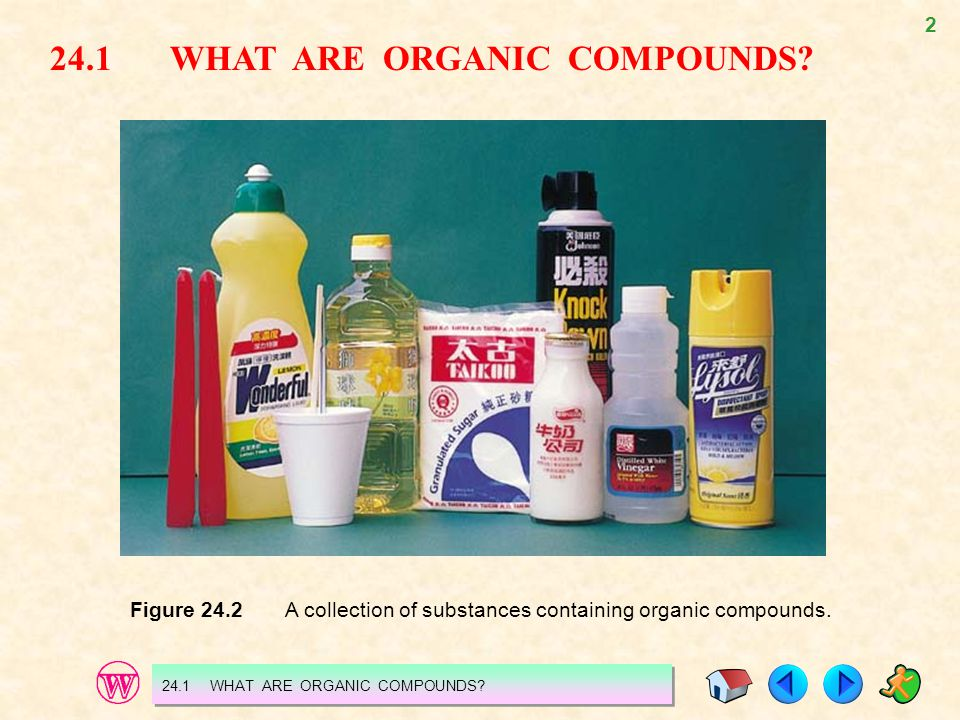 24.1 WHAT ARE ORGANIC COMPOUNDS