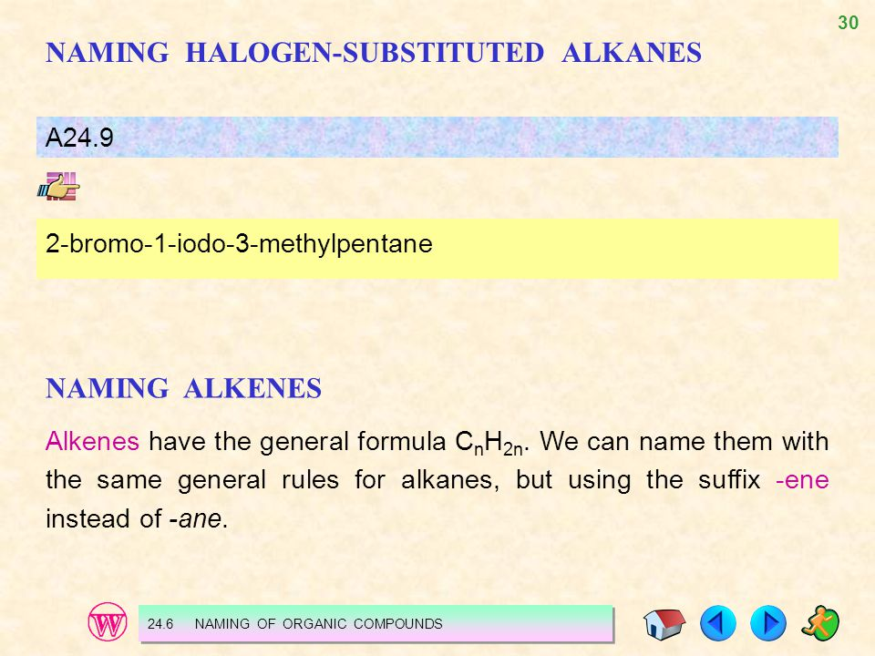 NAMING HALOGEN-SUBSTITUTED ALKANES