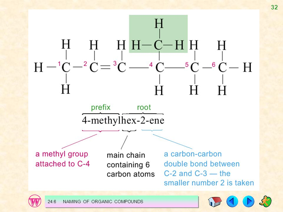 24.6 NAMING OF ORGANIC COMPOUNDS