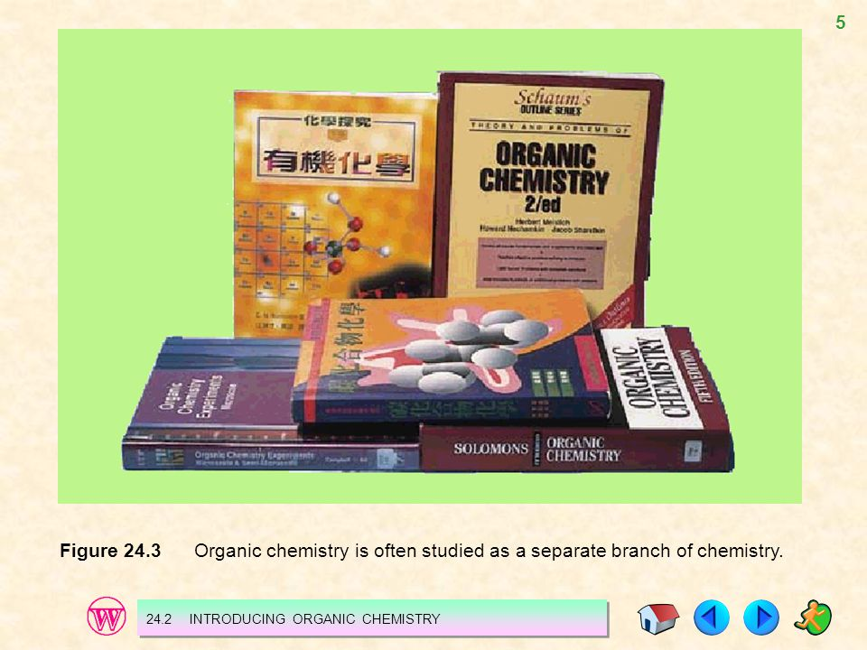 Figure 24.3 Organic chemistry is often studied as a separate branch of chemistry.