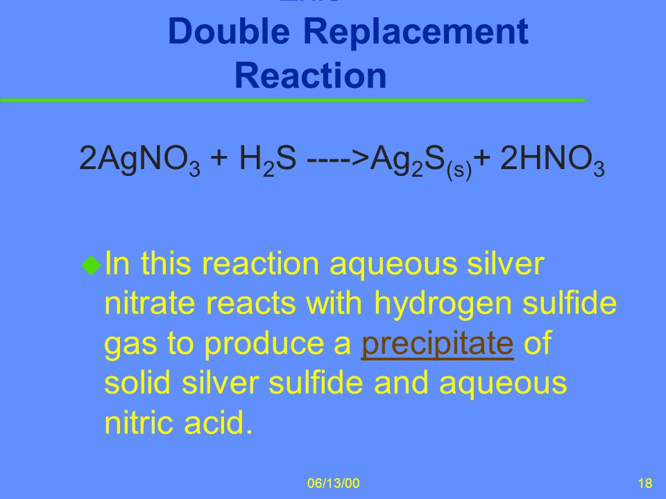 Ex.3 Double Replacement Reaction