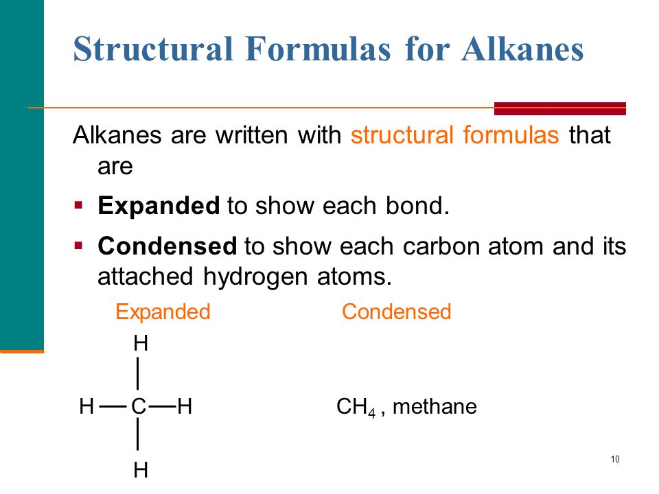 Structural Formulas for Alkanes