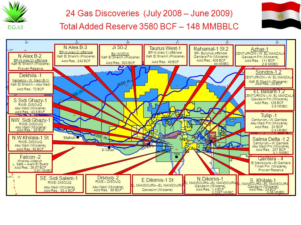 24 Gas Discoveries (July 2008 – June 2009)