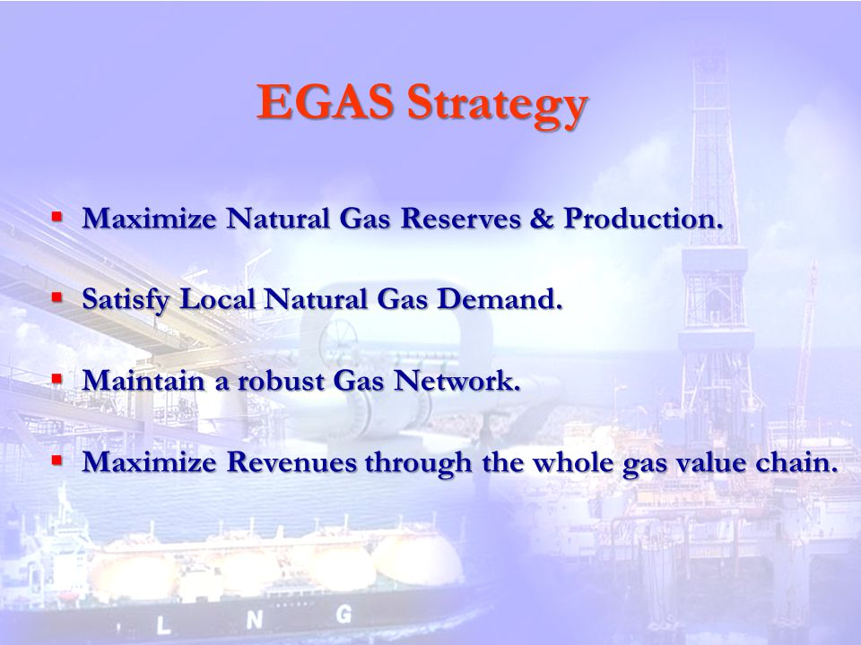 EGAS Strategy Maximize Natural Gas Reserves & Production.