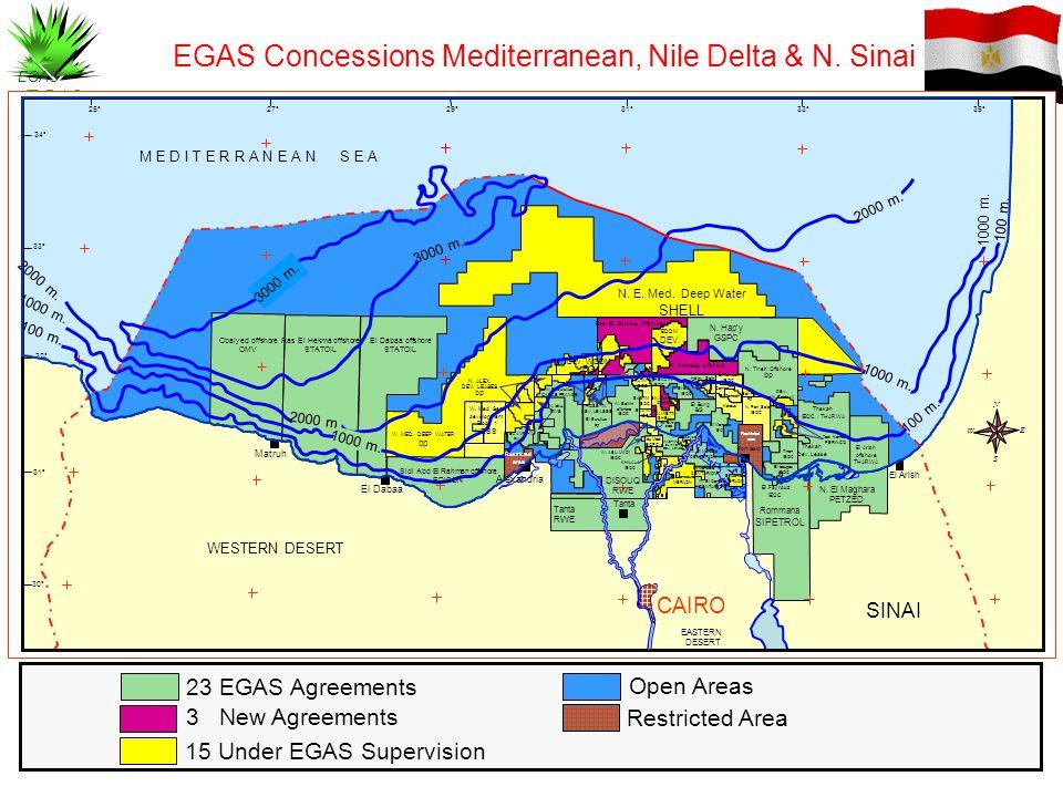 EGAS Concessions Mediterranean, Nile Delta & N. Sinai