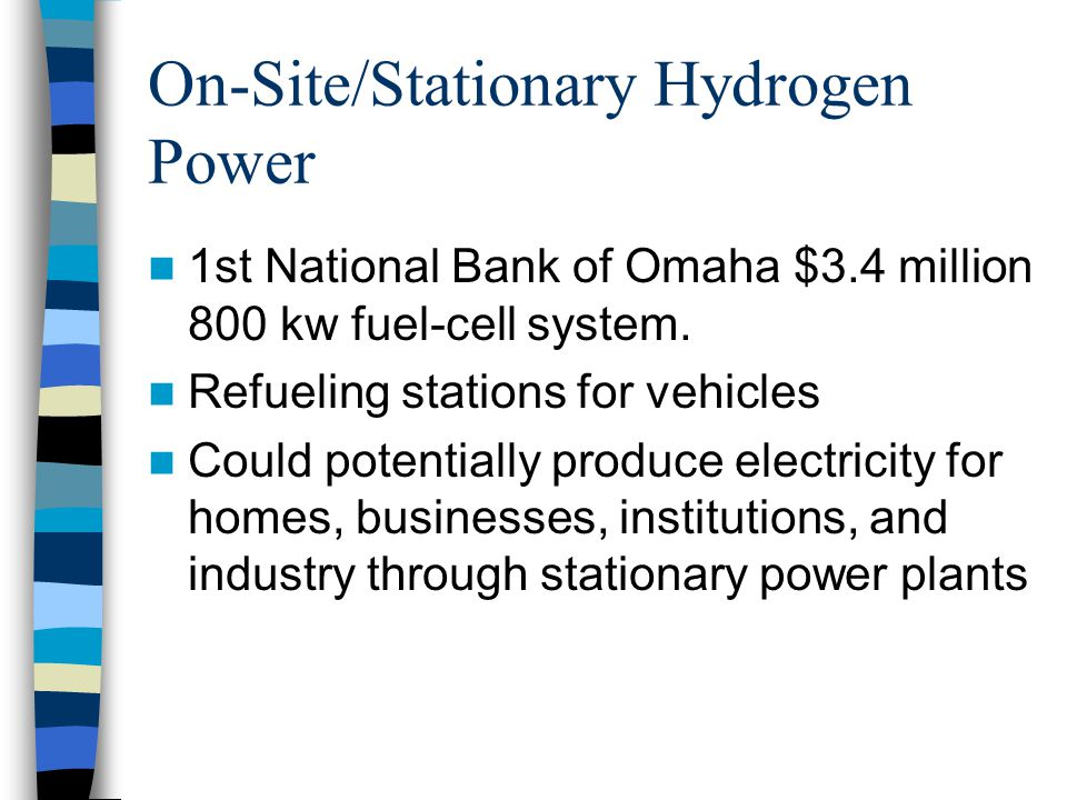 On-Site/Stationary Hydrogen Power