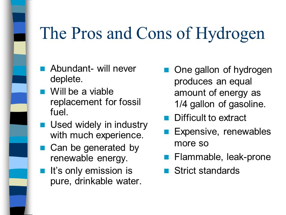 The Pros and Cons of Hydrogen
