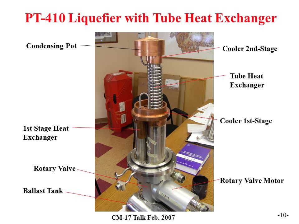 PT-410 Liquefier with Tube Heat Exchanger