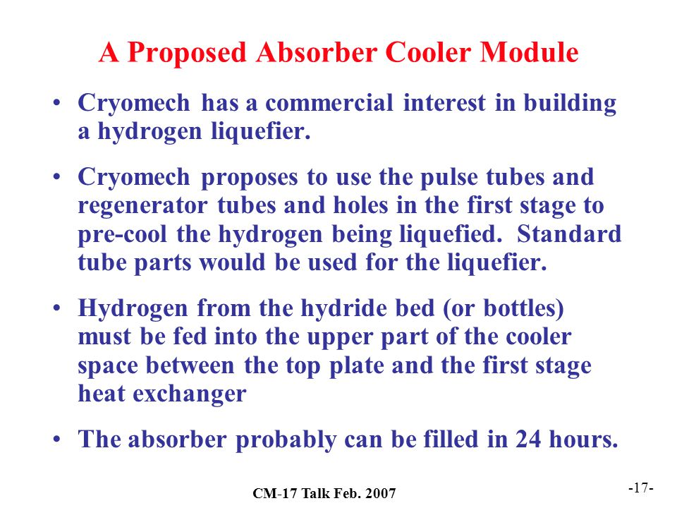 A Proposed Absorber Cooler Module