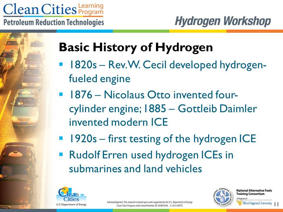 Basic History of Hydrogen