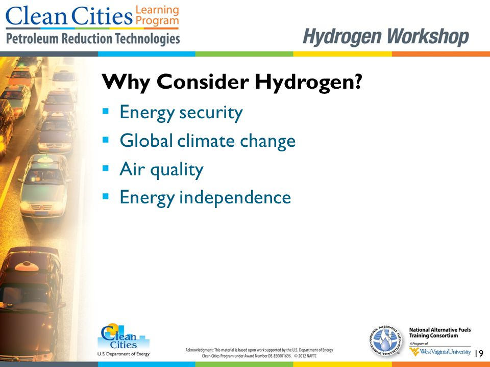 Why Consider Hydrogen Energy security Global climate change