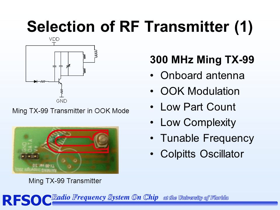 Selection of RF Transmitter (1)