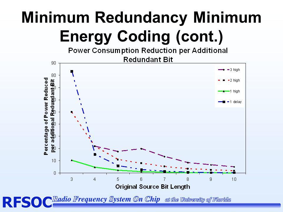 Minimum Redundancy Minimum Energy Coding (cont.)