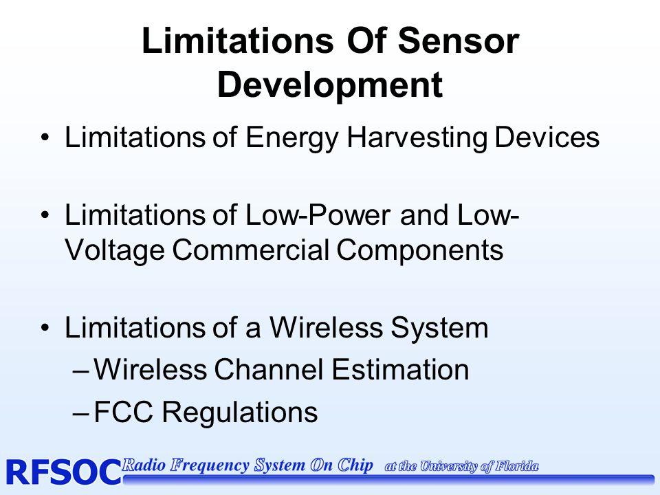 Limitations Of Sensor Development