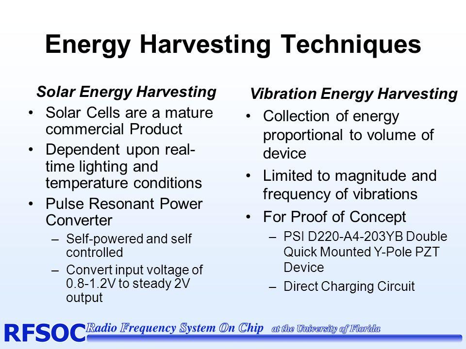 Energy Harvesting Techniques