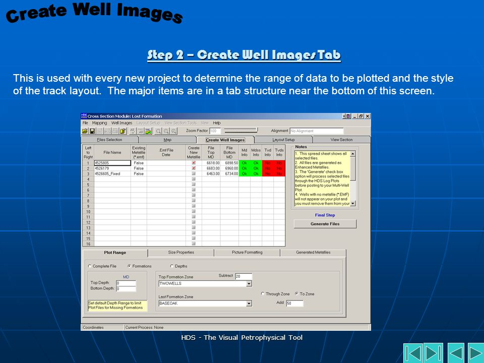 Step 2 – Create Well Images Tab