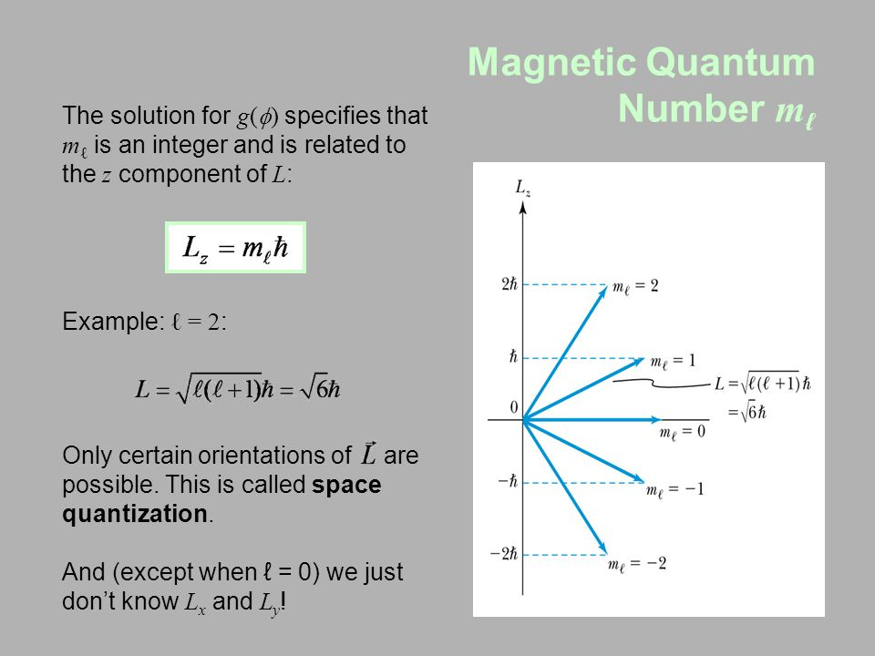 Magnetic Quantum Number mℓ