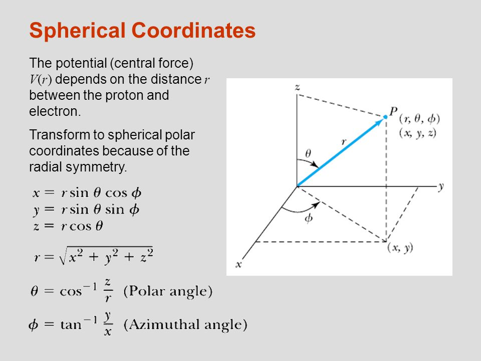 Spherical Coordinates