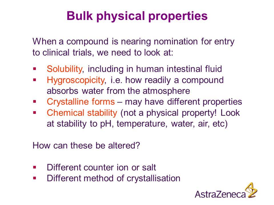 Bulk physical properties