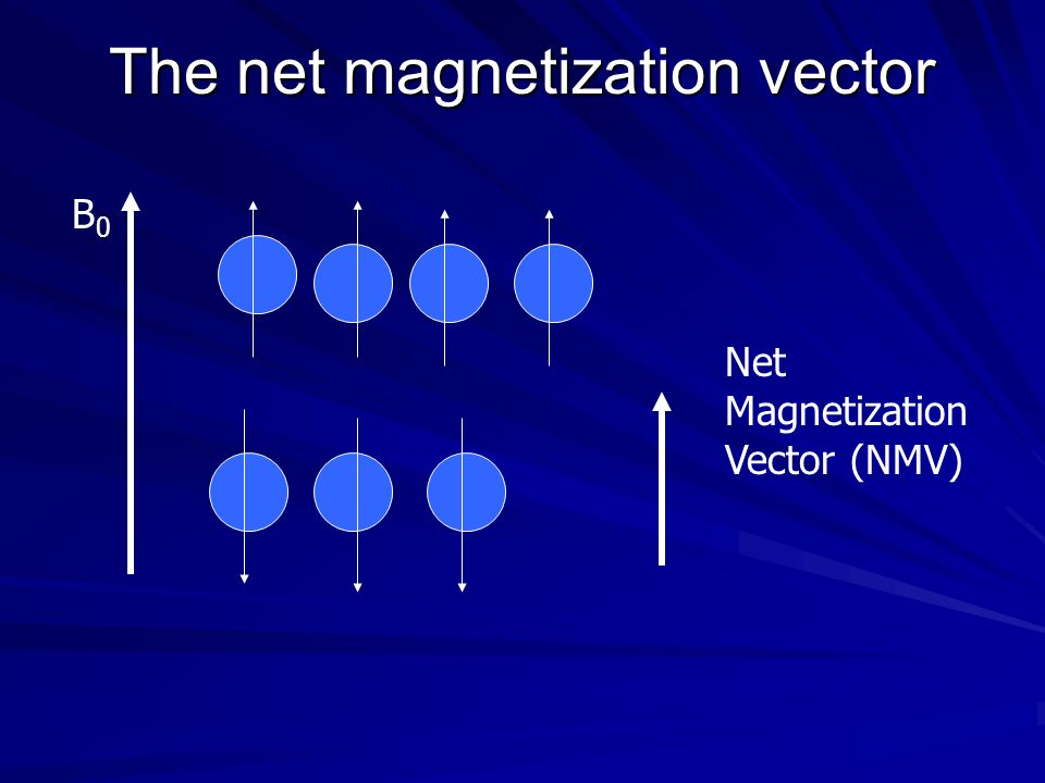 The net magnetization vector
