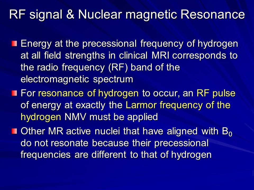 RF signal & Nuclear magnetic Resonance