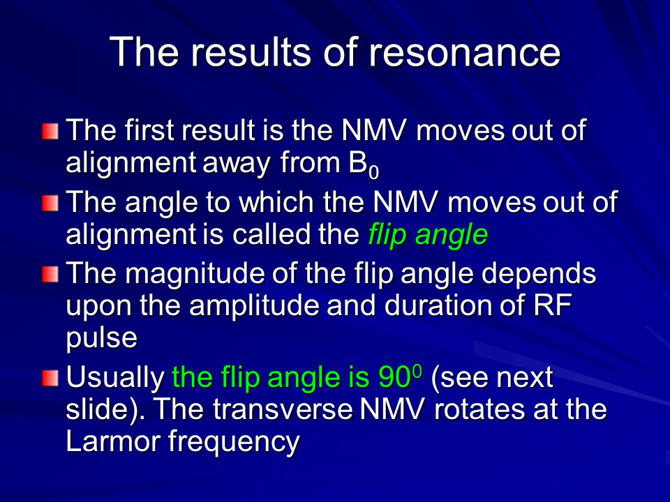 The results of resonance