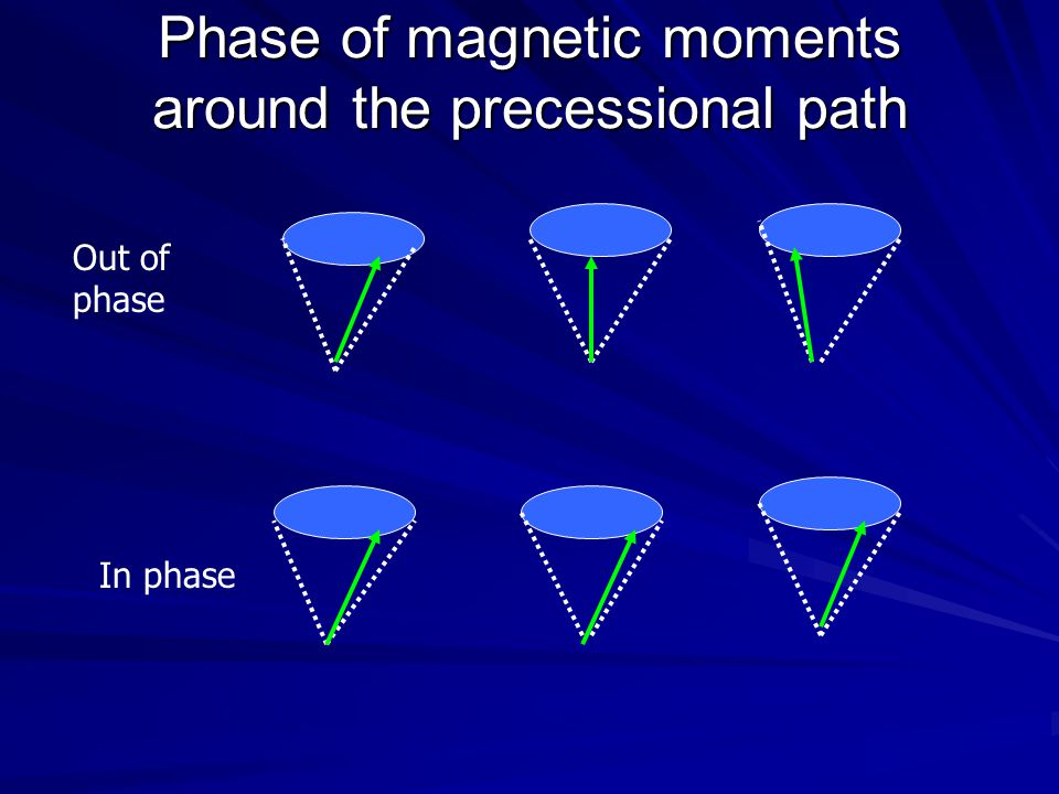 Phase of magnetic moments around the precessional path