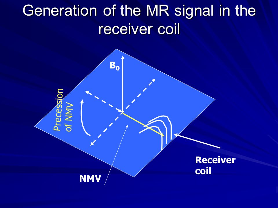 Generation of the MR signal in the receiver coil