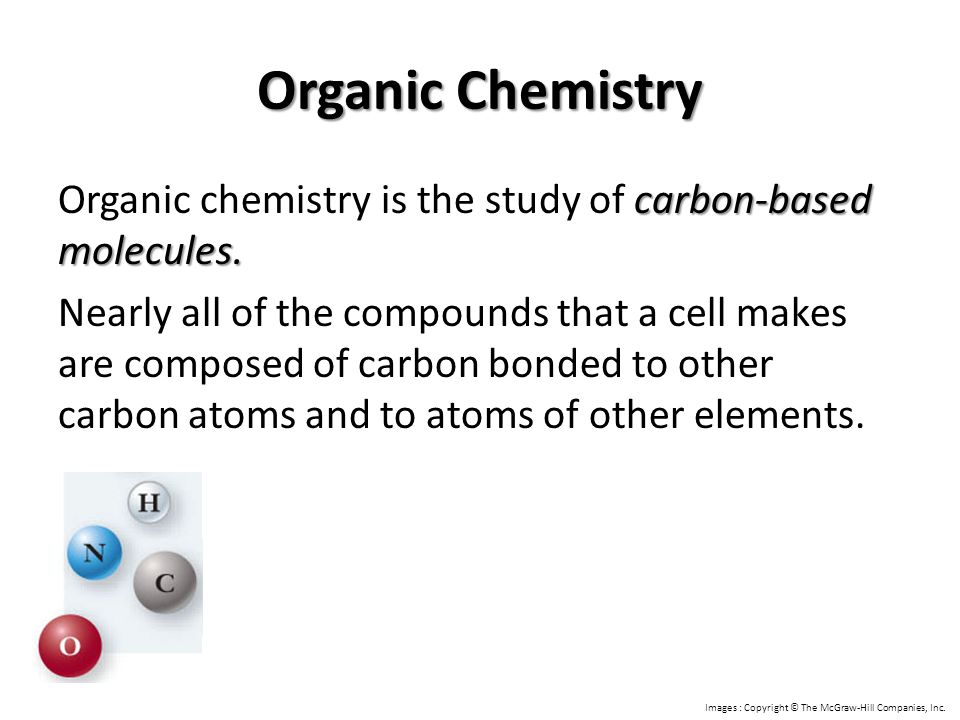 Organic Chemistry Organic chemistry is the study of carbon-based ...