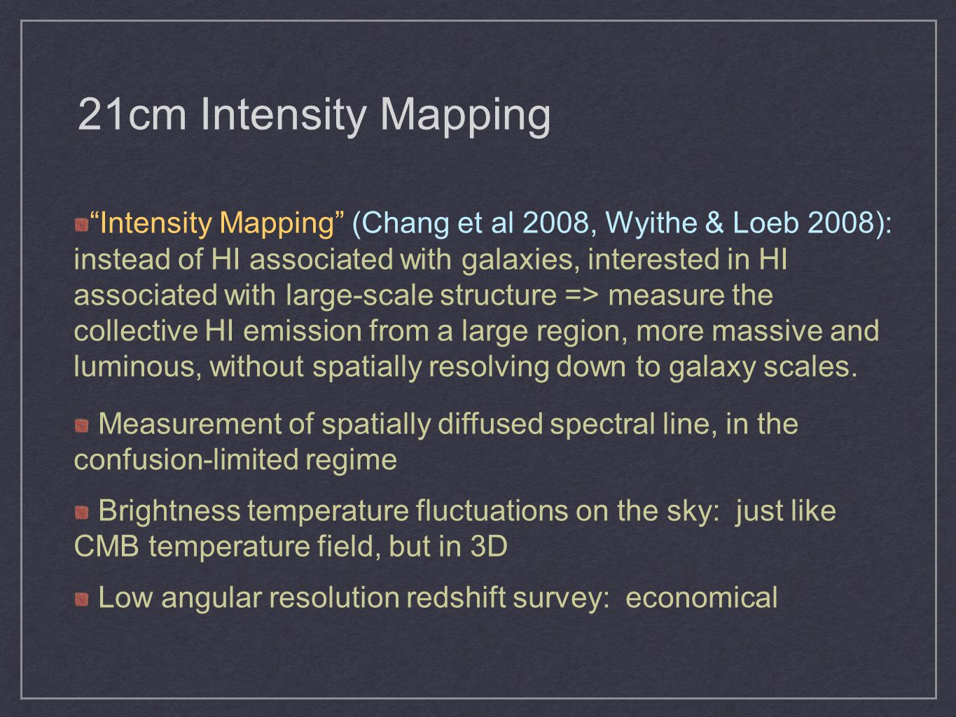 21cm Intensity Mapping