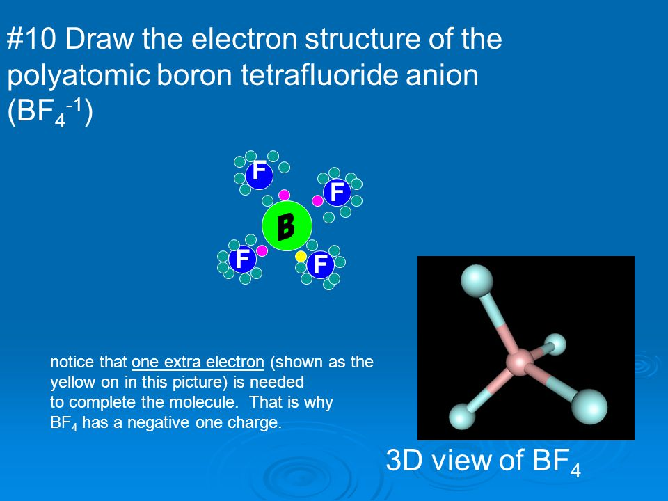 #10 Draw the electron structure of the