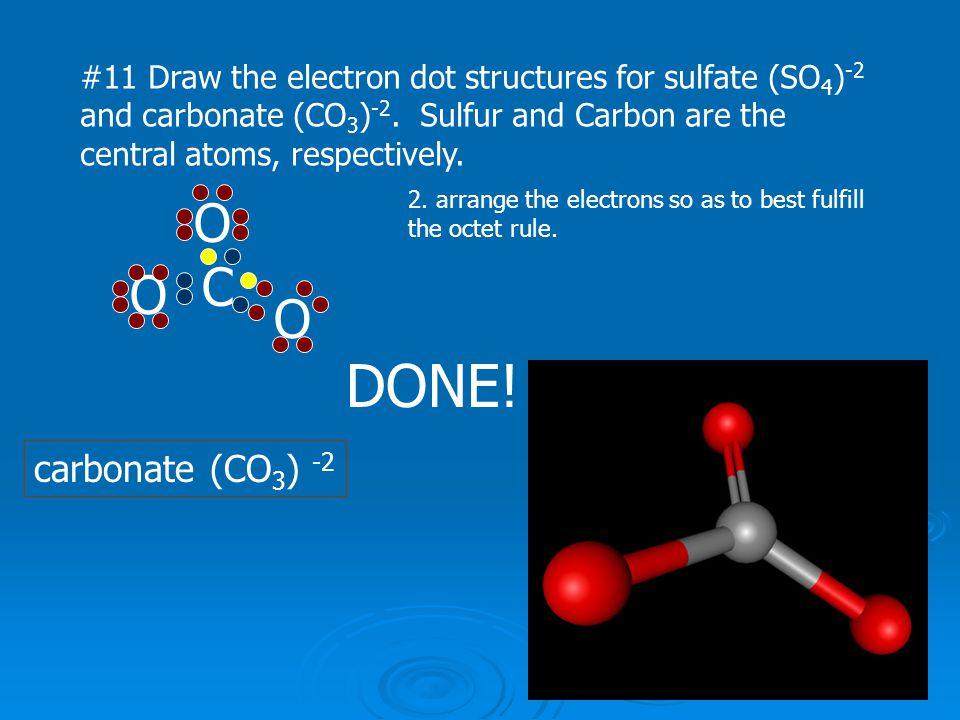 DONE! O C O O carbonate (CO3) -2