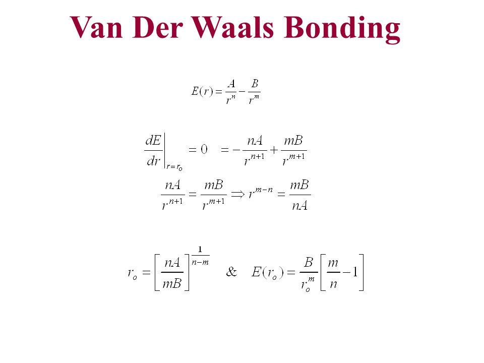 Van Der Waals Bonding